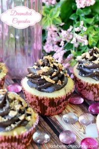 Drumstick Cupcakes - The perfect Valentine's Day Dessert.
