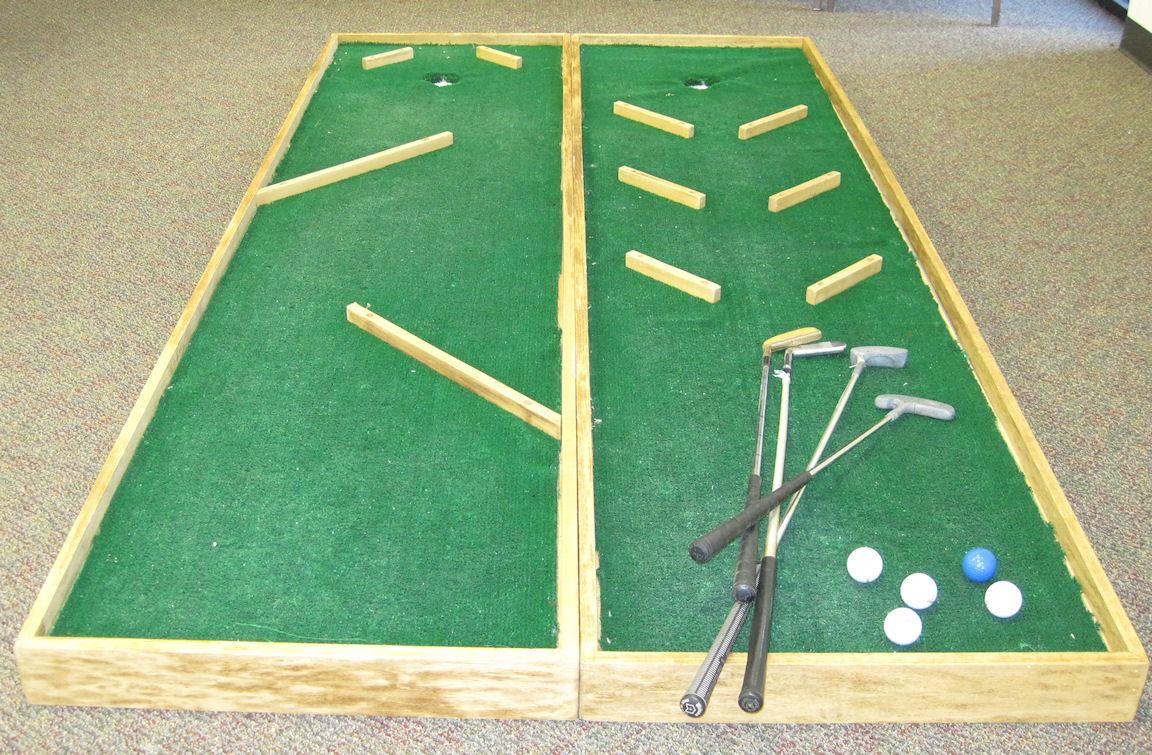how to make a homemade putt putt golf course
