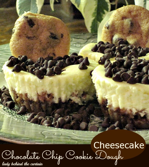 Lady Behind The Curtain - Chocolate Chip Cookie Dough Cheesecake