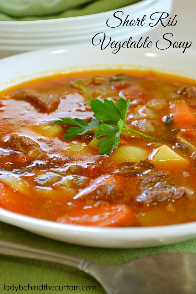 Short Rib Vegetable Soup - Lady Behind The Curtain