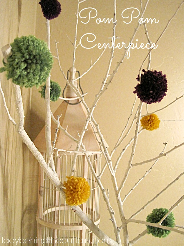 Pom Pom Centerpiece - Lady Behind The Curtain