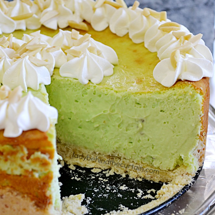 Pistachio Cheesecake   Tall, creamy and the perfect dessert for the pistchio lover in your family!