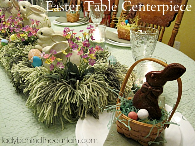 Easter Table Centerpiece - Lady Behind The Curtain