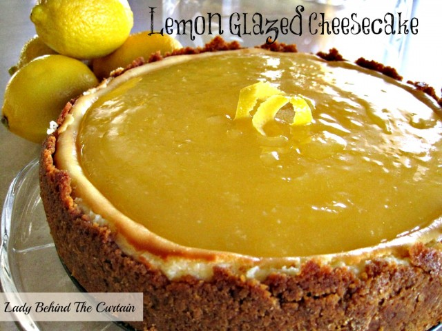 Lady-Behind-The-Curtain-Lemon-Glazed-Cheesecake