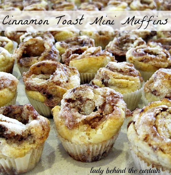 Lady Behind The Curtain - Cinnamon Toast Mini Muffins