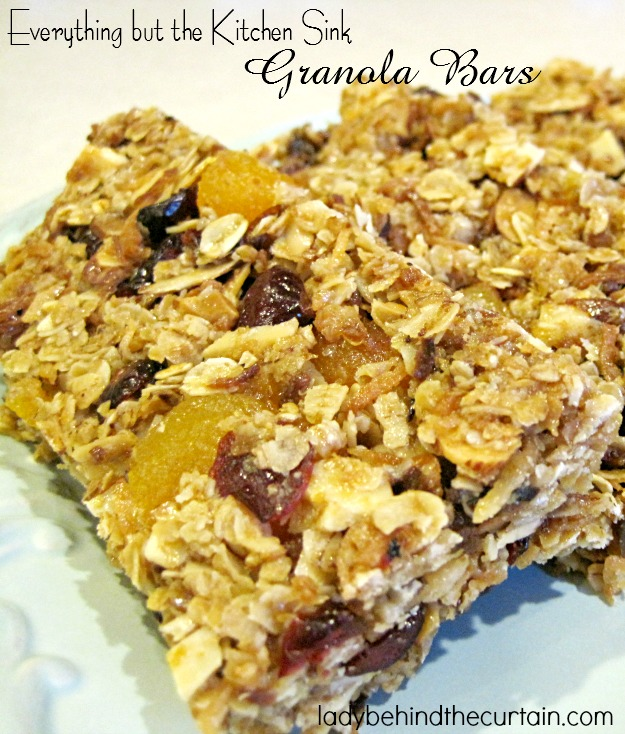 Everything but the Kitchen Sink Granola Bars - Lady Behind The ...