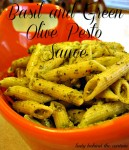 Basil and Green Olive Pesto Sauce