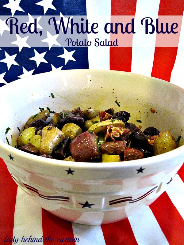 Lady Behind The Curtain - Red, White and Blue Potato Salad