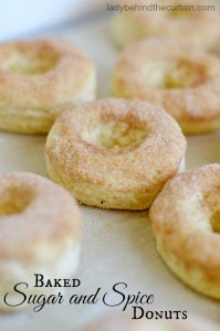 Baked Sugar and Spice Donuts - Lady Behind The Curtain