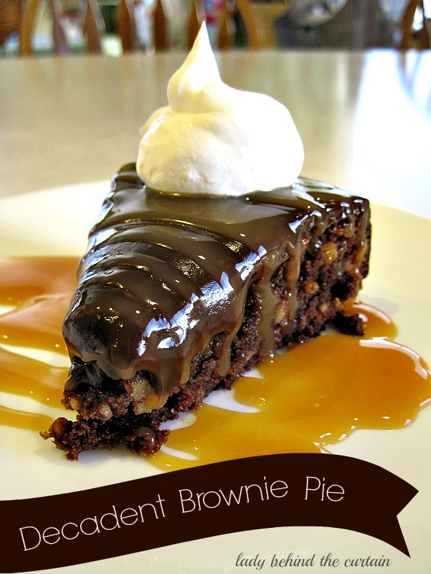 Decadent Brownie Pie - Lady Behind The Curtain