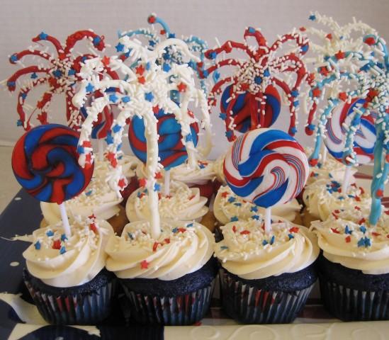 Firework Cupcakes