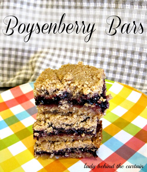 Lady Behind The Curtain - Boysenberry Bars