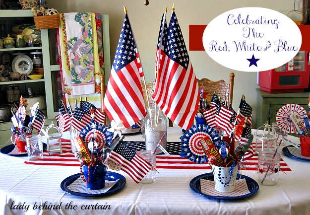 Lady Behind The Curtain - Celebrating The Red, White & Blue