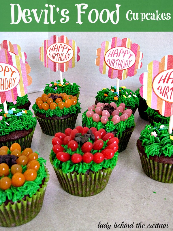 Lady Behind The Curtain - Devil's Food Cupcakes