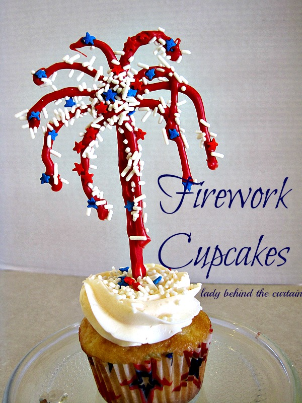 Lady Behind The Curtain - Firework Cupcakes