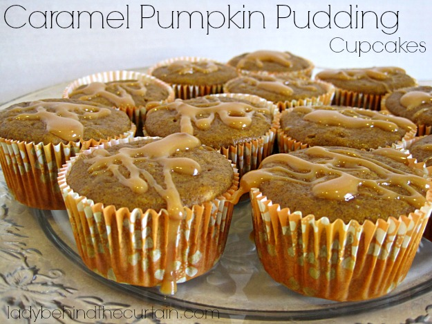 Caramel Pumpkin Pudding Cupcakes