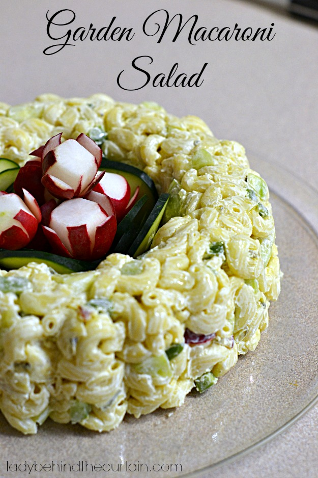 Garden Macaroni Salad - Lady Behind The Curtain