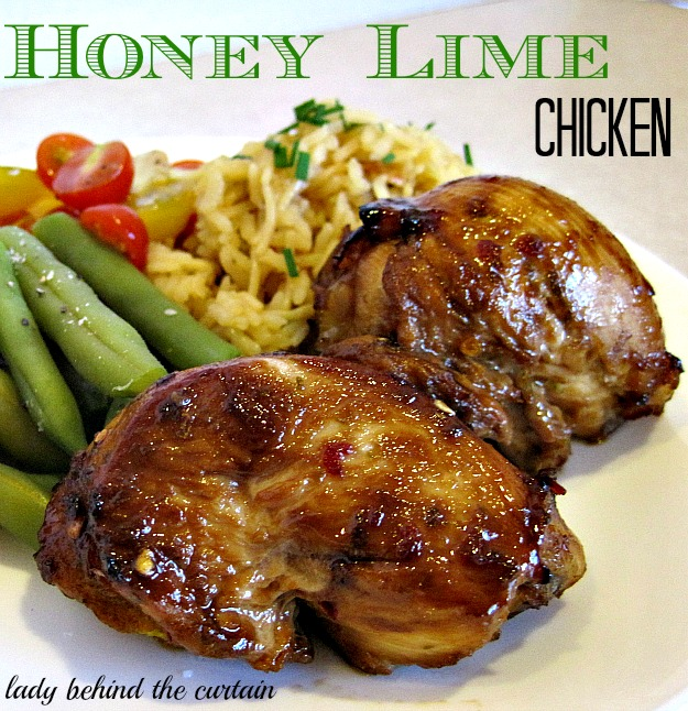 Lady Behind The Curtain - Honey Lime Chicken