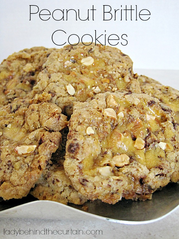 Peanut Brittle Cookies - Lady Behind The Curtain