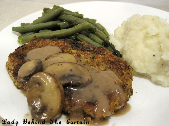 Lady Behind The Curtain - Country Fried Steak with Mushroom Gravy
