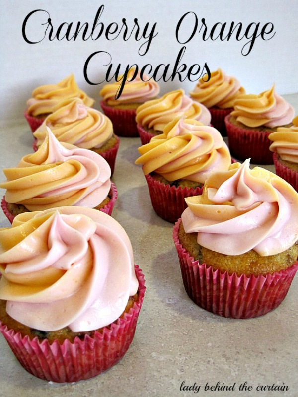 Lady Behind The Curtain - Cranberry Orange Cupcakes