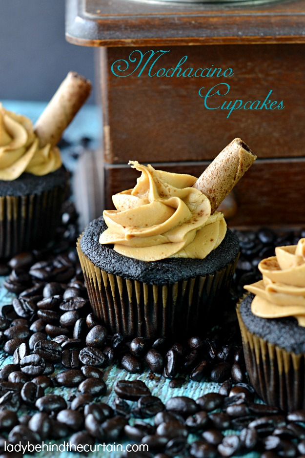 Mochaccino Cupcakes - Lady Behind The Curtain