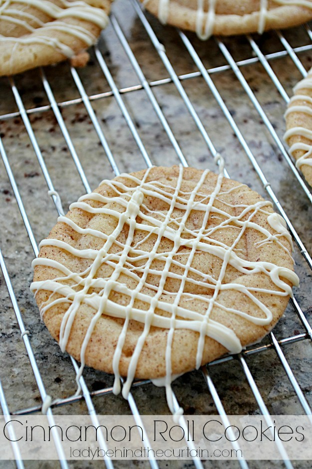 Cinnamon Roll Cookies - Lady Behind The Curtain