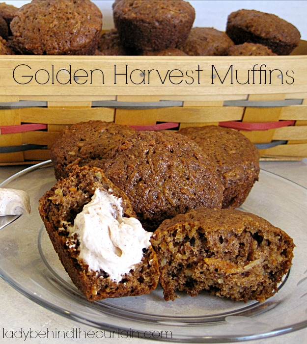 Golden Harvest Muffins - Lady Behind The Curtain