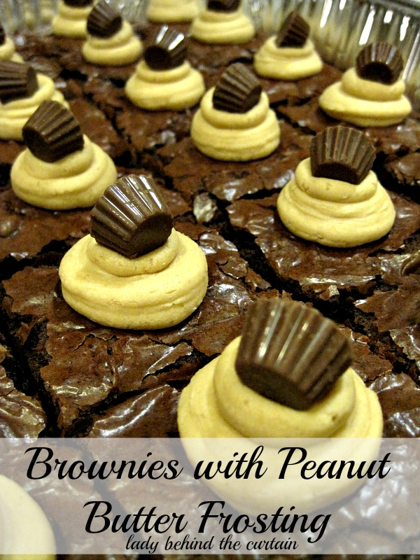 Lady Behind The Curtain - Brownies with Peanut Butter Frosting