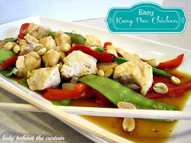 Lady Behind The Curtain - Easy Kung Pao Chicken