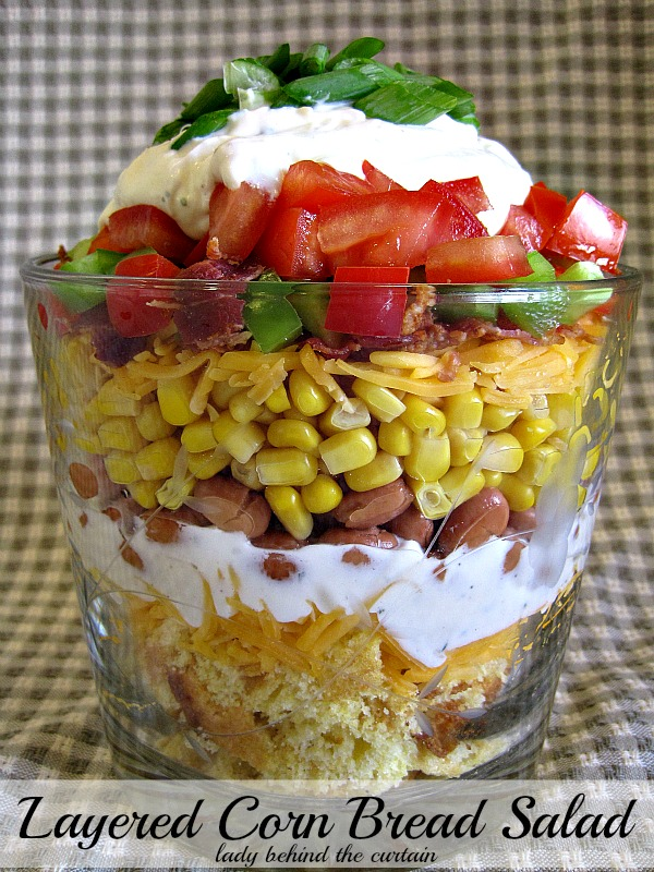 Lady Behind The Curtain - Layered Corn Bread Salad