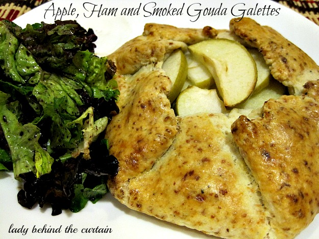 Apple, Ham and Smoked Gouda Galettes - Lady Behind The Curtain