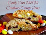 Candy Corn M&M Cranberry Orange Scones