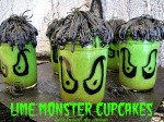 Lime Monster Cupcakes In A Jar
