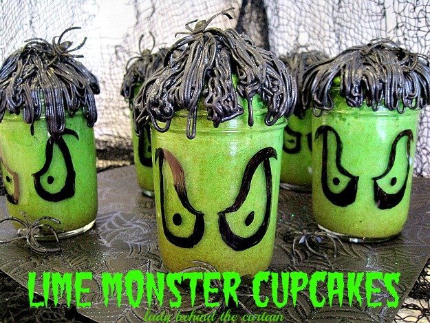 Lady Behind The Curtain - Lime Monster Cupcakes