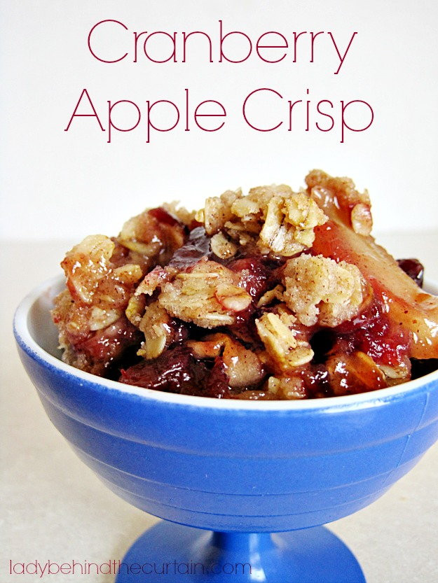 Cranberry Apple Crisp - Lady Behind The Curtain