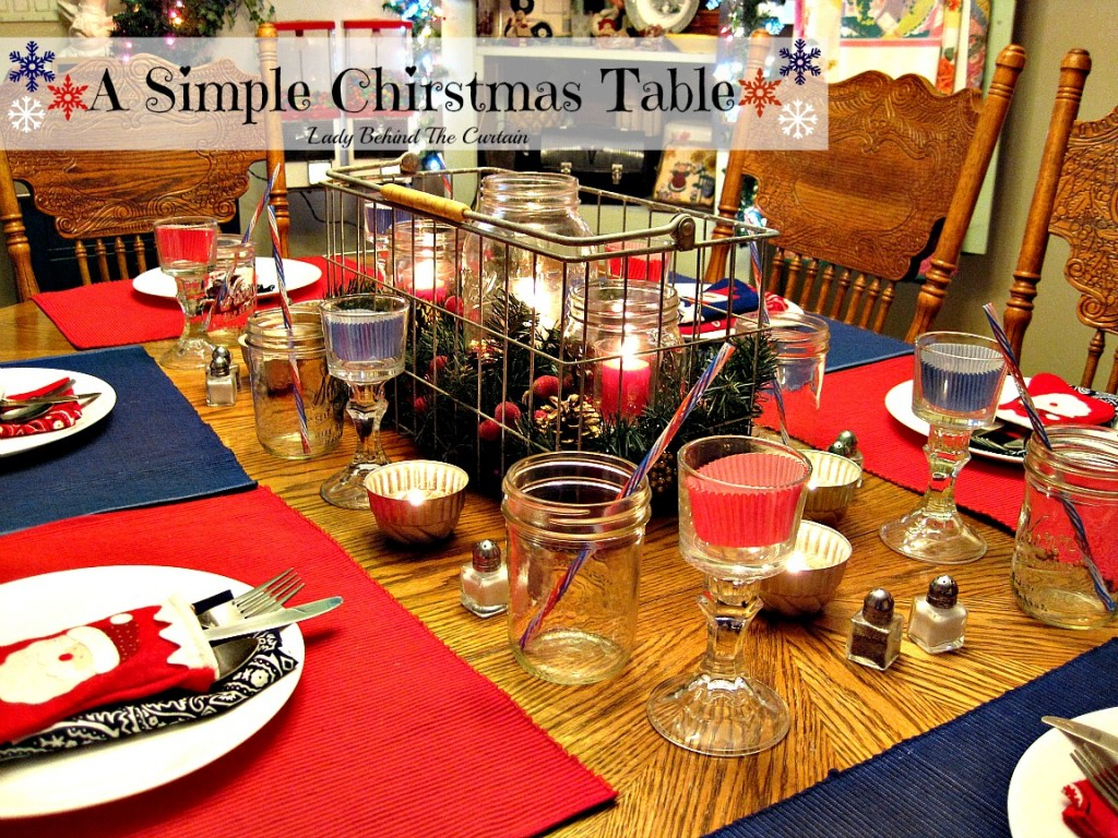 Lady Behind The Curtain - A Simple Christmas Table