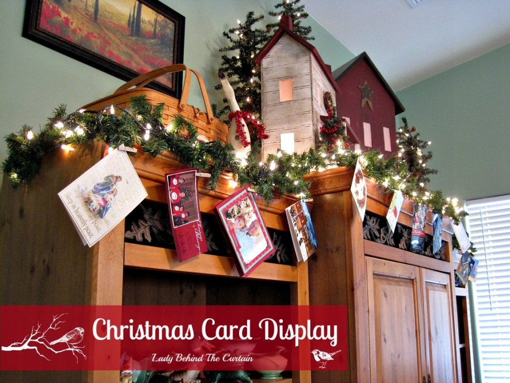 Lady Behind The Curtain - Christmas Card Display