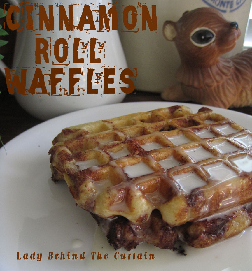WE COOK: CINNAMON ROLL WAFFLES WITH CREAM CHEESE SYRUP!
