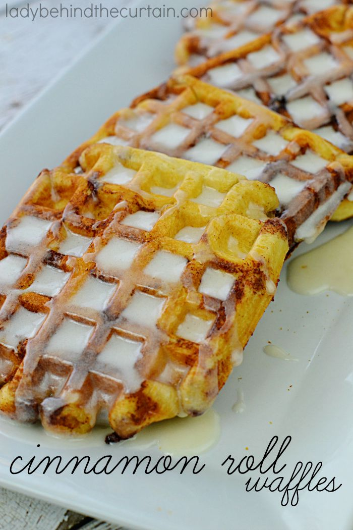 Cinnamon Roll Waffles: When waffles and cinnamon rolls come together and make the most delicious breakfast surprise. ONE INGREDIENT.....ONE DELICIOUS BREAKFAST!