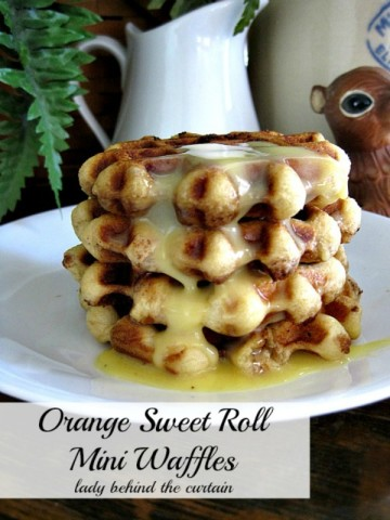 Lady Behind The Curtain - Orange Sweet Roll Mini Waffles