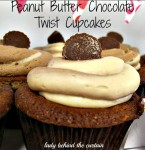 Peanut Butter – Chocolate Twist Cupcakes