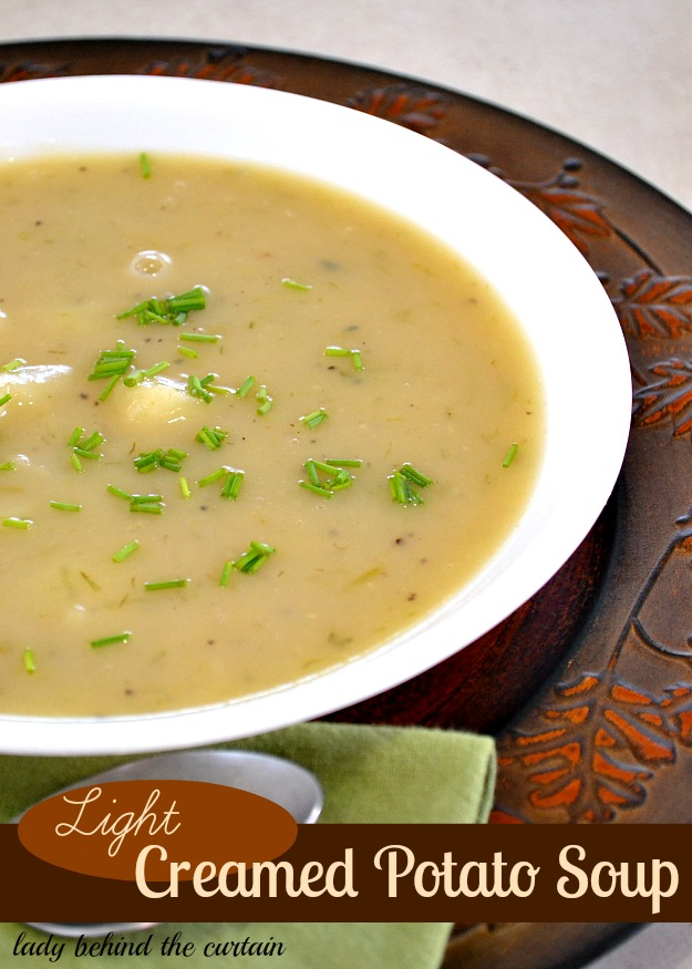 Light Creamed Potato Soup - Lady Behind The Curtain
