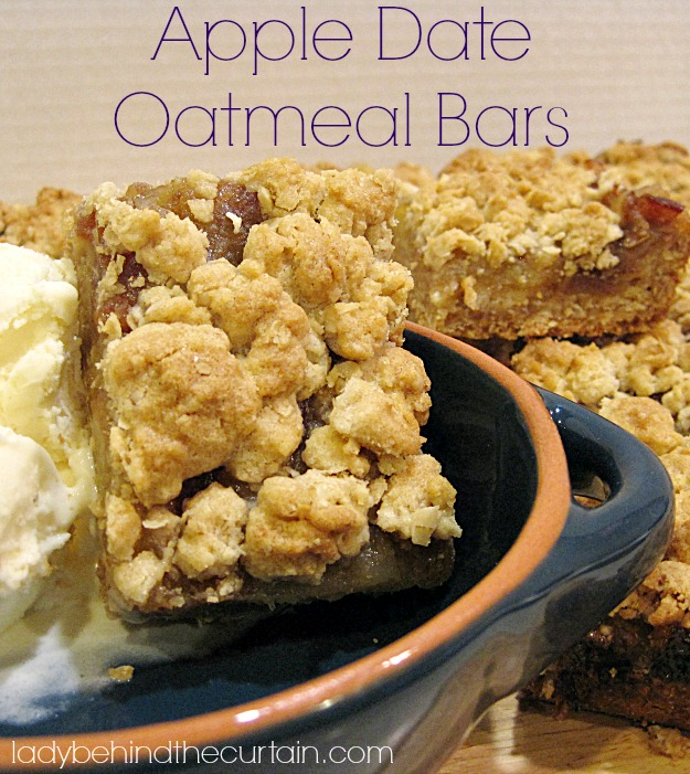 Apple Date Oatmeal Bars - Lady Behind The Curtain