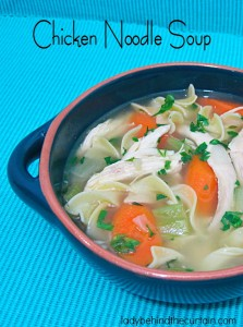 Chicken Noodle Soup - Lady Behind The Curtain