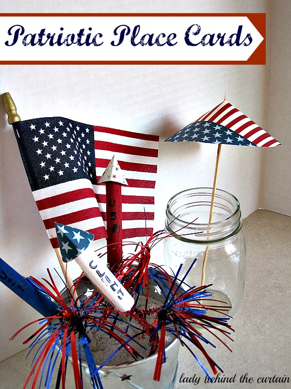 Lady Behind The Curtain - Patriotic Place Cards