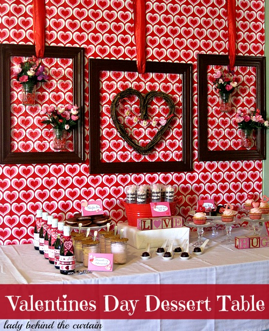Lady Behind The Curtain - Valentines Day Dessert Table