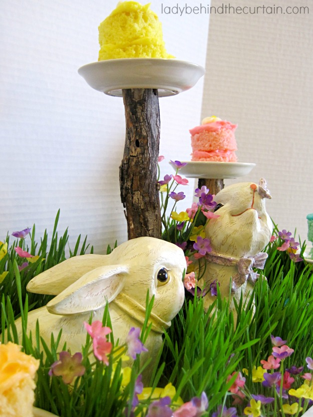 Easter-Spring Centerpiece - Lady Behind The Curtain