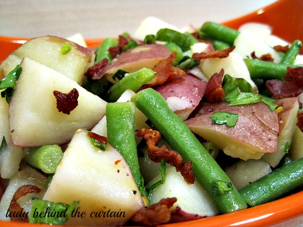 Lady Behind The Curtain - Bacon and Green Bean Potato Salad