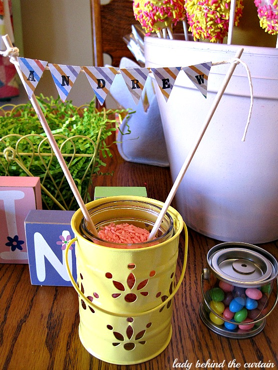 Lady Behind The Curtain - Kid's Easter Table